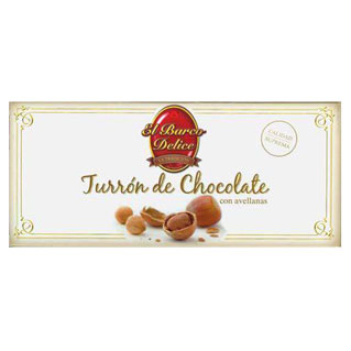 Turron de Chocolate con Avellanas