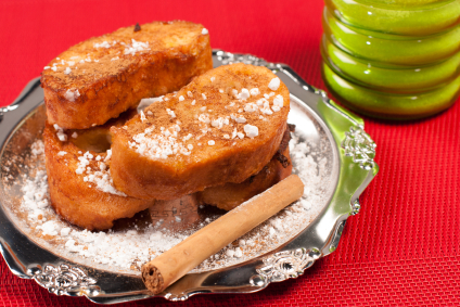 Torrijas (bread pudding)