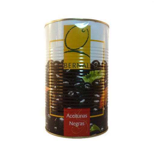 Aceitunas Negras (Black Olives Without Stone) 2kg tin