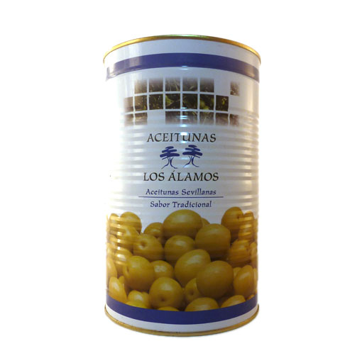 Green Olives Without Stone 2kg tin