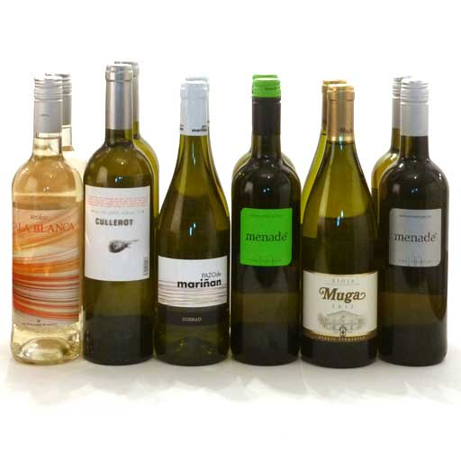 Mixed White Wine Selection (case of 12 )